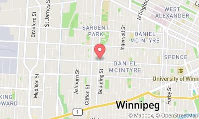 map, ServiceMaster Restore of Winnipeg