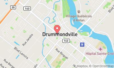 map, Équipe Bernier Bruchési - Courtier Immobilier Drummondville RE/MAX