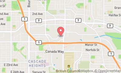 map, Location de bureau NextGen Offices à Burnaby (BC) | LiveWay