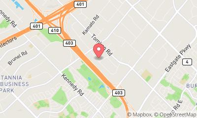 map, SERVPRO of North Mississauga
